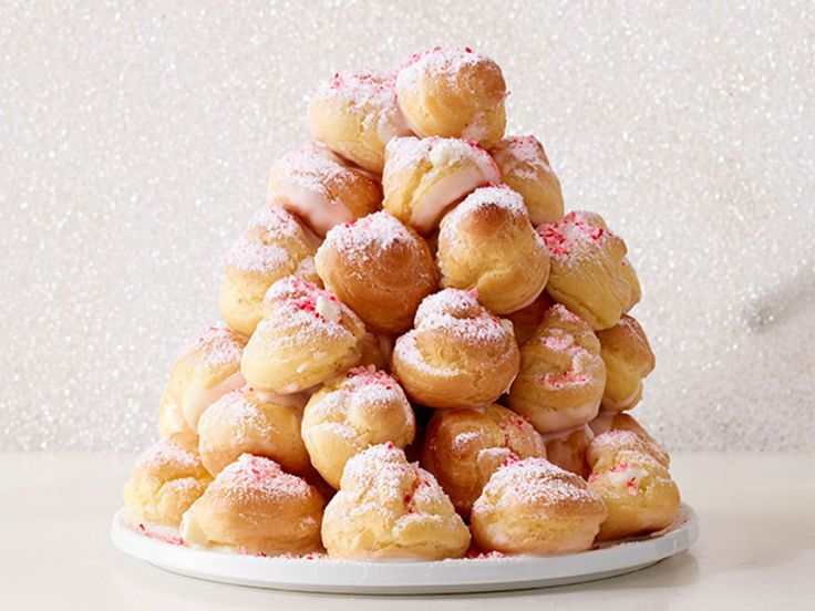 Candy Cane Croquembouche recipe from Food Network Kitchen via Food Network