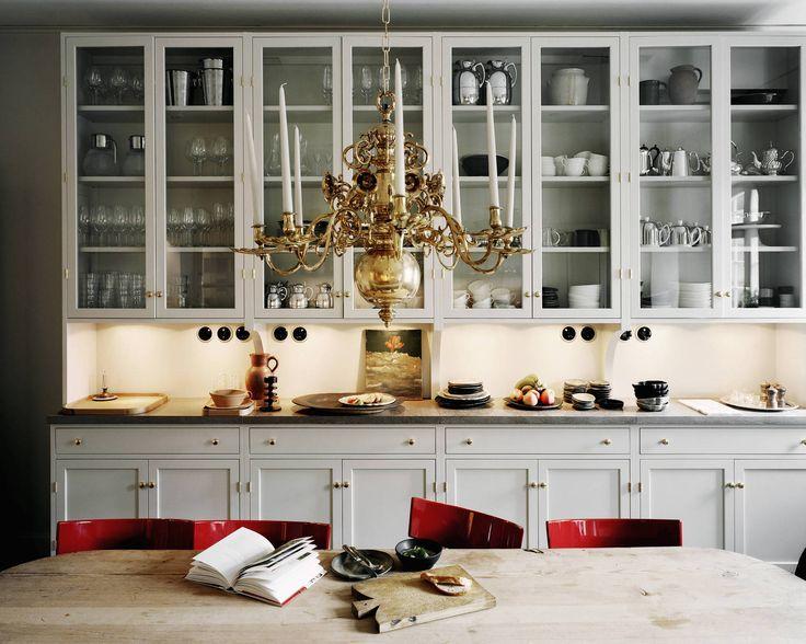 Photographer Felix Odell shot the luxury hotel Ett Hem for Monocle Magazine. Kitchen, Vitrine, Kitchen Cabinets, Farrow and Ball, Light Gray