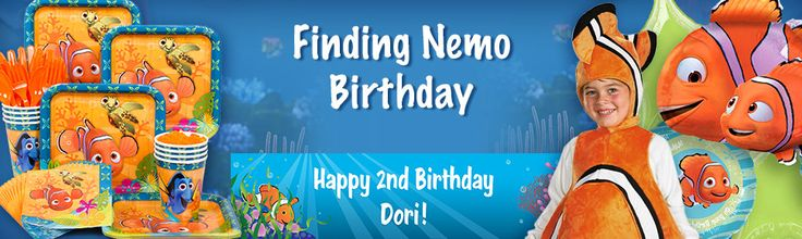 Finding Nemo party supplies, decorations and invitations. VERY LOW PRICES!