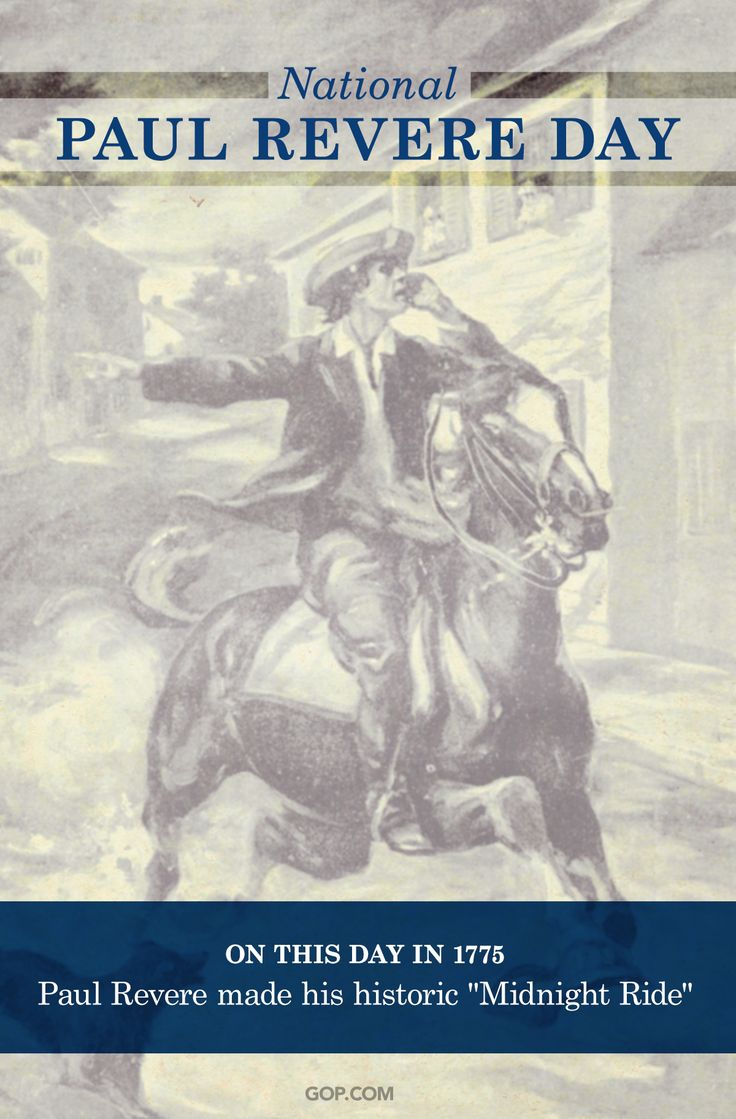 on what date did paul revere made his historic ride