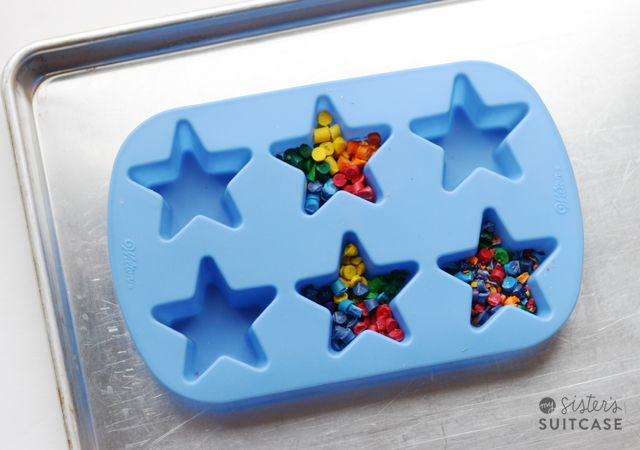 Kids Craft : Make Your Own Shaped Crayons - My Sister's Suitcase - Packed with Creativity