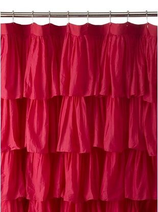 71% OFF India Rose Magenta Ruffled Shower Curtain, Hot Pink, 72