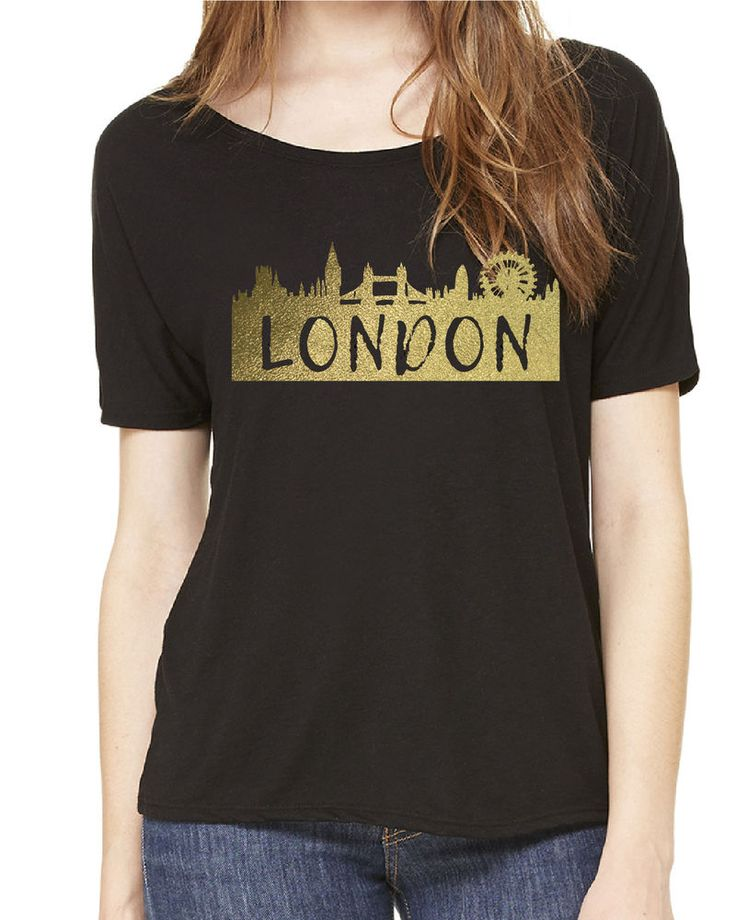 London T-shirt Women's T-shirt Custom t-shirt Gold t-shirt Gold women's t-shirt #BellaCanvas #PersonalizedTee