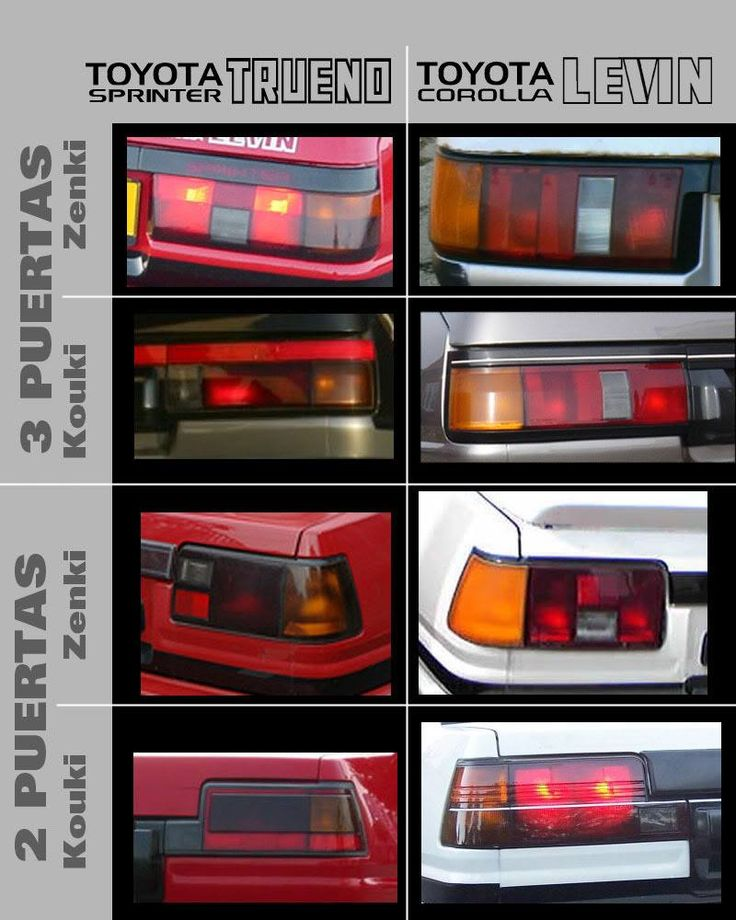 According to this we have levin kouki taillights on our trueno