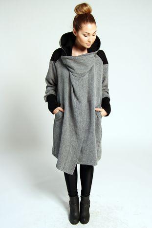 Volcano Icelandic Design - Vendingur coat- grey fishbone