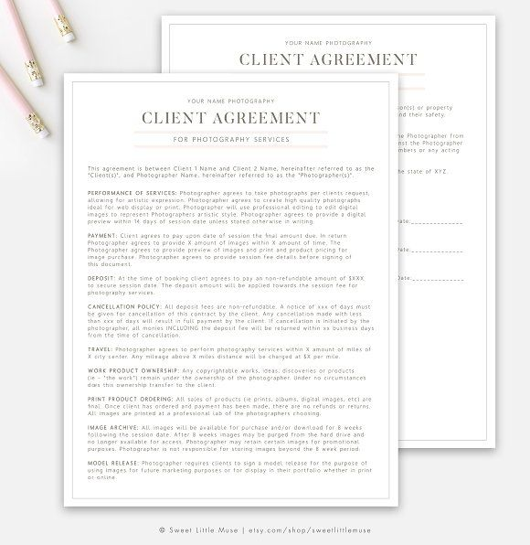 Photography Client Contract Photography Contract Client