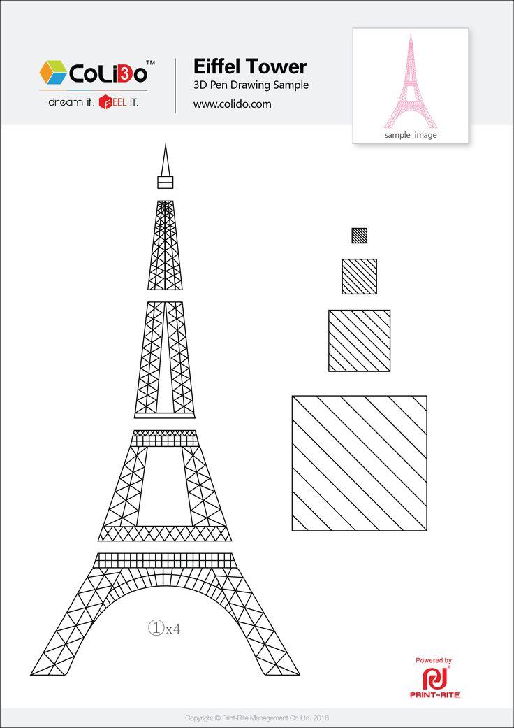 3d Printer Filament >> CoLiDo-3d-pen-stencil-eiffel-tower.jpg (2480×3508) | 3d drawing pen, 3d pen stencils, 3d pen art