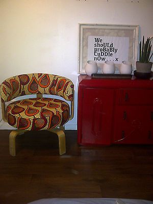 Ikea Fridene Swivel Chair Cover In African Wax Print Red
