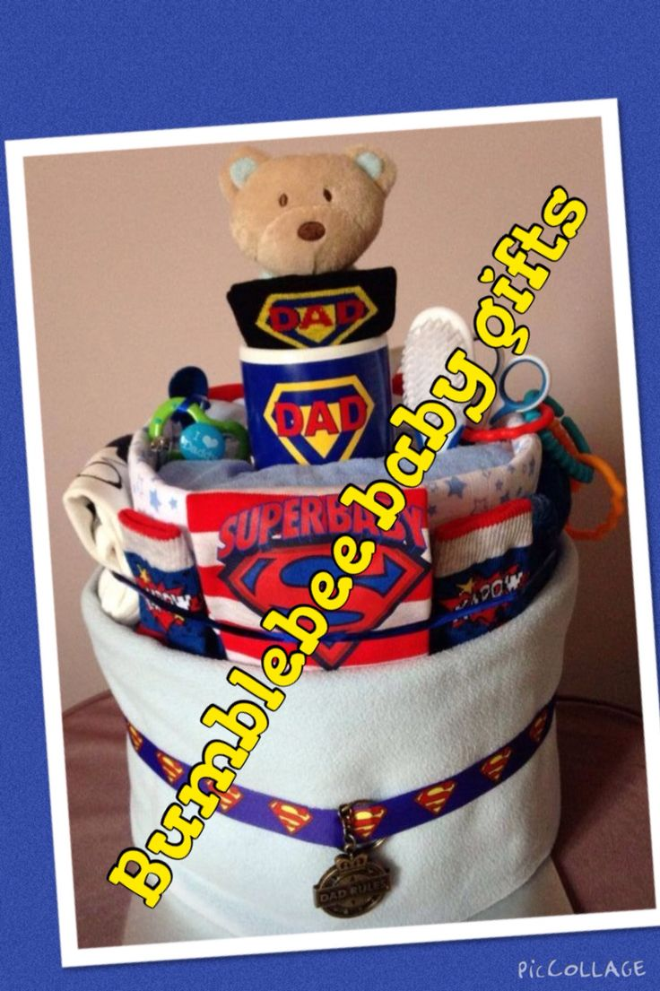 Superhero dad themed nappy cake for a dad to be gift on Father's Day