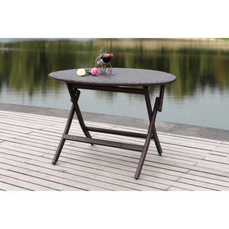 Safavieh Ellis Round Outdoor Folding Table, Multiple Colors, Gray