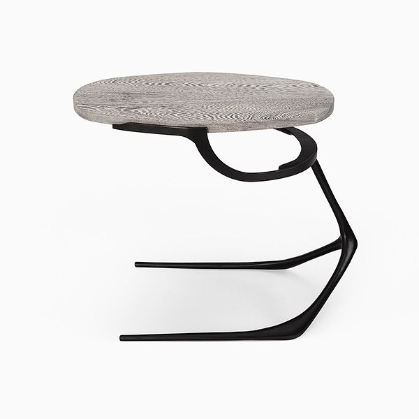 "Wishbone Table - CASTE Design | overall 25 1/2"" long x 14 3/4""W x 20""H 