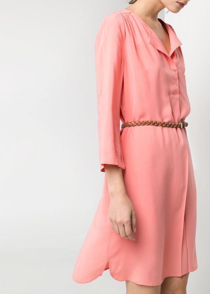Braided belt dress - #MNG