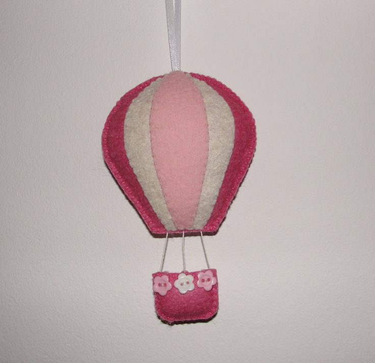 Wool Felt Balloon Hanging, Hot Air Balloon, Wall Decor, Blue and White Hot Air Balloon, Wall Hanging, Nursery Decor, Kids Room Decor, Gift by NitaFeltThings on Etsy