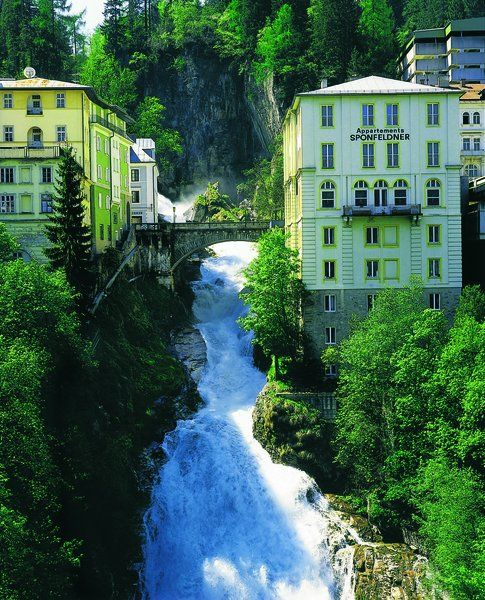 This waterfall is located in the City Center of Bad Gastein, Salzburg Austria #feelaustria