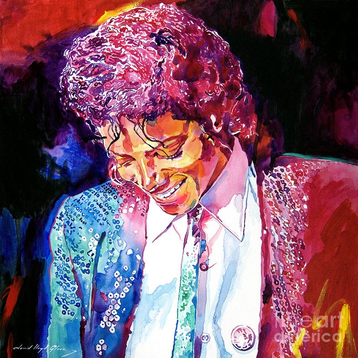 Young Michael Jackson Fine Art Print - David Lloyd Glover