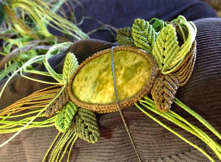 Fiber Macrame Necklace Swinging Through Trees by Coco Paniora Salinas of Rumi Sumaq