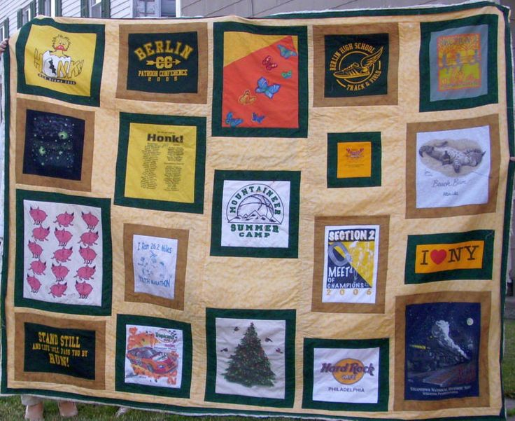 Quilting Designs For T Shirt Quilts : T-shirt quilt ideas and techniques. Sewing Inspiration Pinterest
