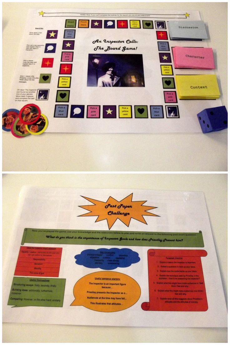 17 best ideas about an inspector calls revision an my year really enjoyed playing an inspector calls the board game for their revision on the back of the game there is a practice exam question so they can