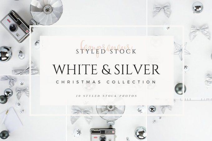 Silver Christmas Styled Stock Photo by Fempreneur Styled Stock on @creativemarket