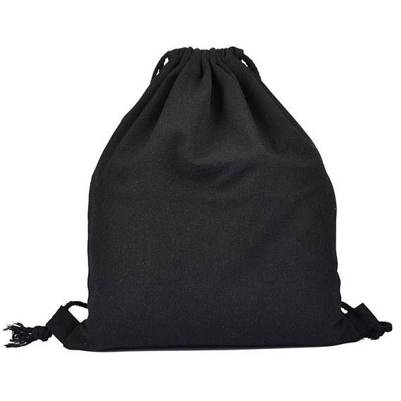 Eco-Friendly Reusable Drawstring Bag Cotton Canvas Gym Bag #il_progetto_bottiglia #drawstringbackpack #backpack #blackbag #cottonfabric #canvasbag #bagdesigner #bagmaker #baglover #handmadebag