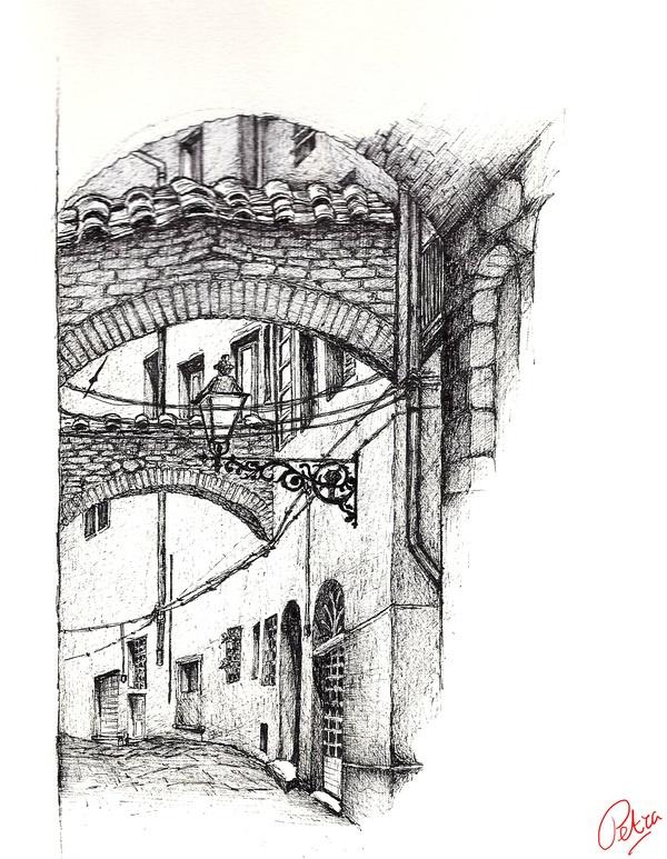 drawings Pistoia by Petra Dijks, via Behance