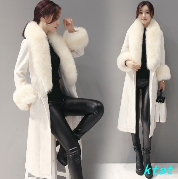 Women's Luxury Faux Fur Collar Outwear Warm Winter Parka