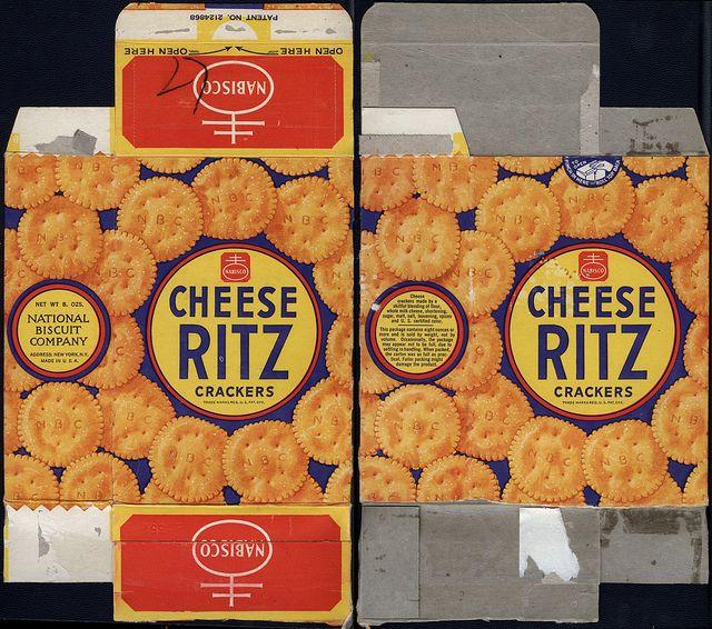 nabisco cracker boxes | Nabisco - Cheese Ritz crackers - 8 oz box - 1940's | Flickr - Photo ...