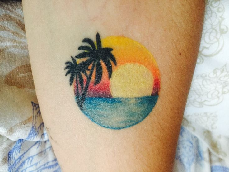 44 best images about sunset tattoos on pinterest for Palmetto tree and moon tattoo
