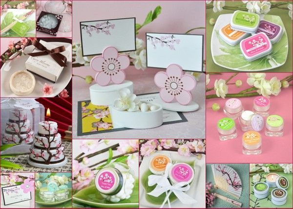Cherry Blossom Wedding Favors from HotRef.com