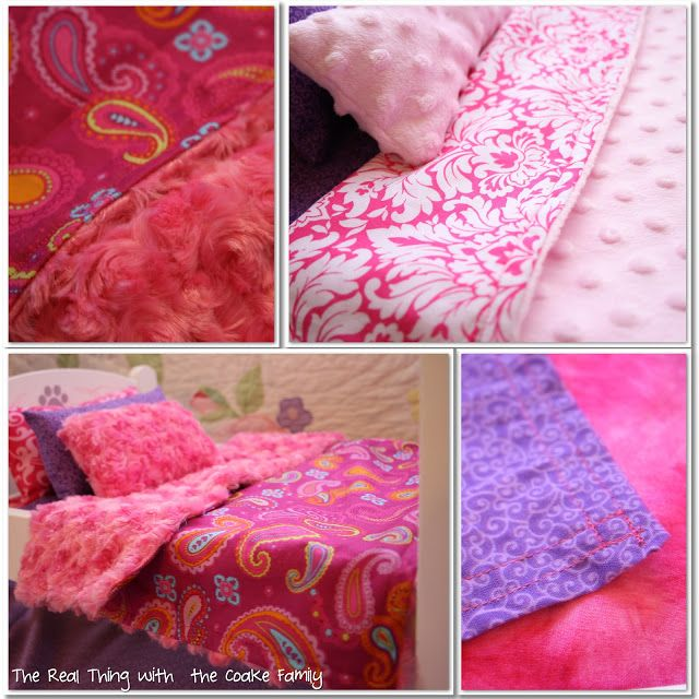 American Girl Doll Bedding Pattern {Free}, make a matching lovey or pillow case for E and T!!