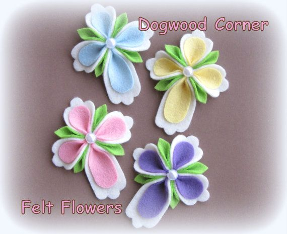 4pc. Felt Easter, Religious, Christian Cross Hair Clip, Crafting Supply, Or Pin/Brooch Set.Order This Set or Choose Colors and Amounts.