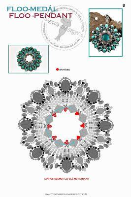 Pattern bijoux: Ciondolo Floo