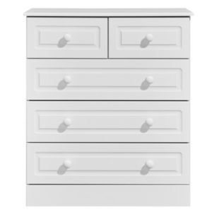 Kingstown Greenwich White 5 Drawer Chest (H)950mm (W)830mm Greenwich White 5 Drawer Chest (H)950mm (W)830mm.A five drawer chest is a great addition to your bedroom furniture - it adds much needed storage space practically by allowing you five different spaces http://www.MightGet.com/april-2017-1/kingstown-greenwich-white-5-drawer-chest-h-950mm-w-830mm.asp
