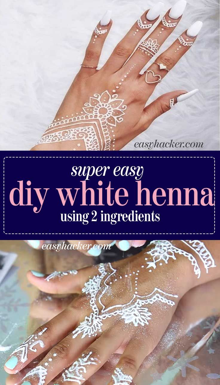 Whitehenna Learn How To Diy White Henna At Home As An Exciting Option For Darker Skin Tones As Well As For Henna Tattoo Diy White Henna Henna Tattoo Recipe