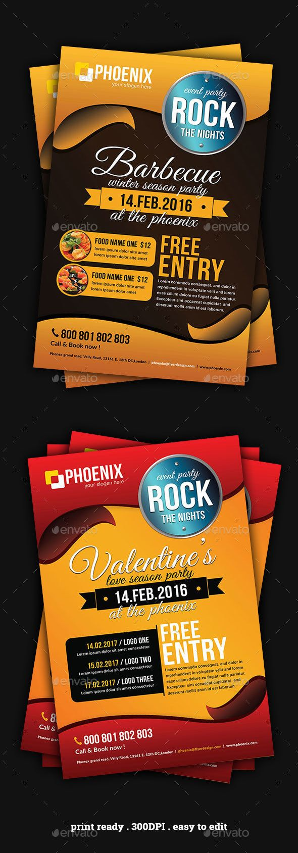 Event Multipurpose Flyer Template PSD. Download here: http://graphicriver.net/item/event-multipurpose-flyer/14845402?ref=ksioks