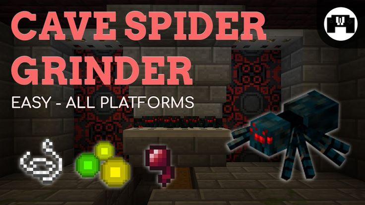 Cave Spider Grinder Tutorial Minecraft 1.12.2 EASY