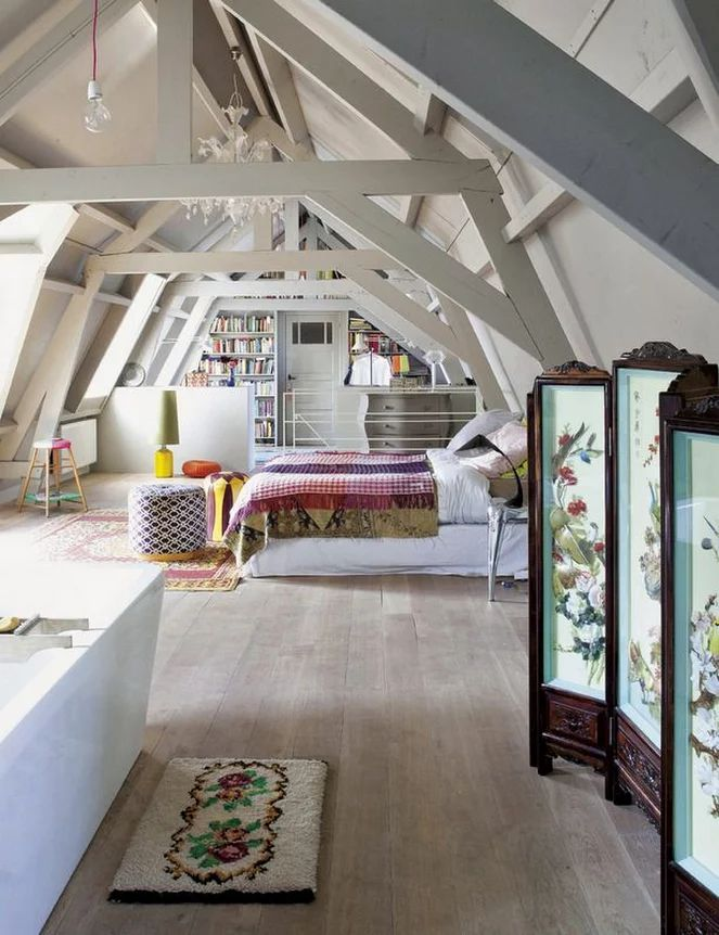 The Master Bedroom Is Located In The Attic | Modern Art Movements To Inspire Your Design