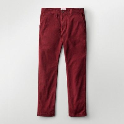 Men's Athletic Fit Hennepin Chino Pants - Goodfellow & Co Burgundy (Red) 33X32