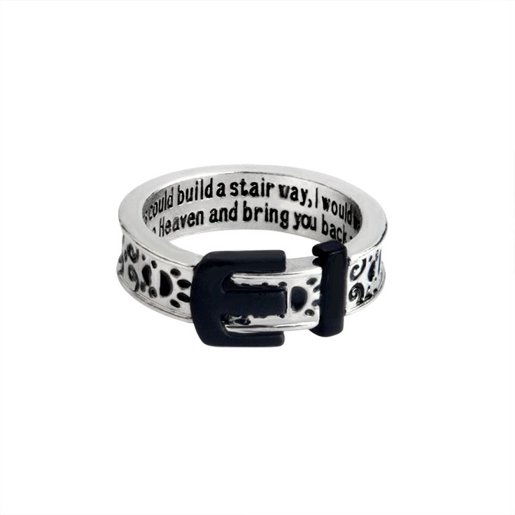"""If tears could build a stairway, I would walk right up to Heaven""Belt Buckle Ring For Women Men Dog Paw Claw Animal Pet Jewelry"