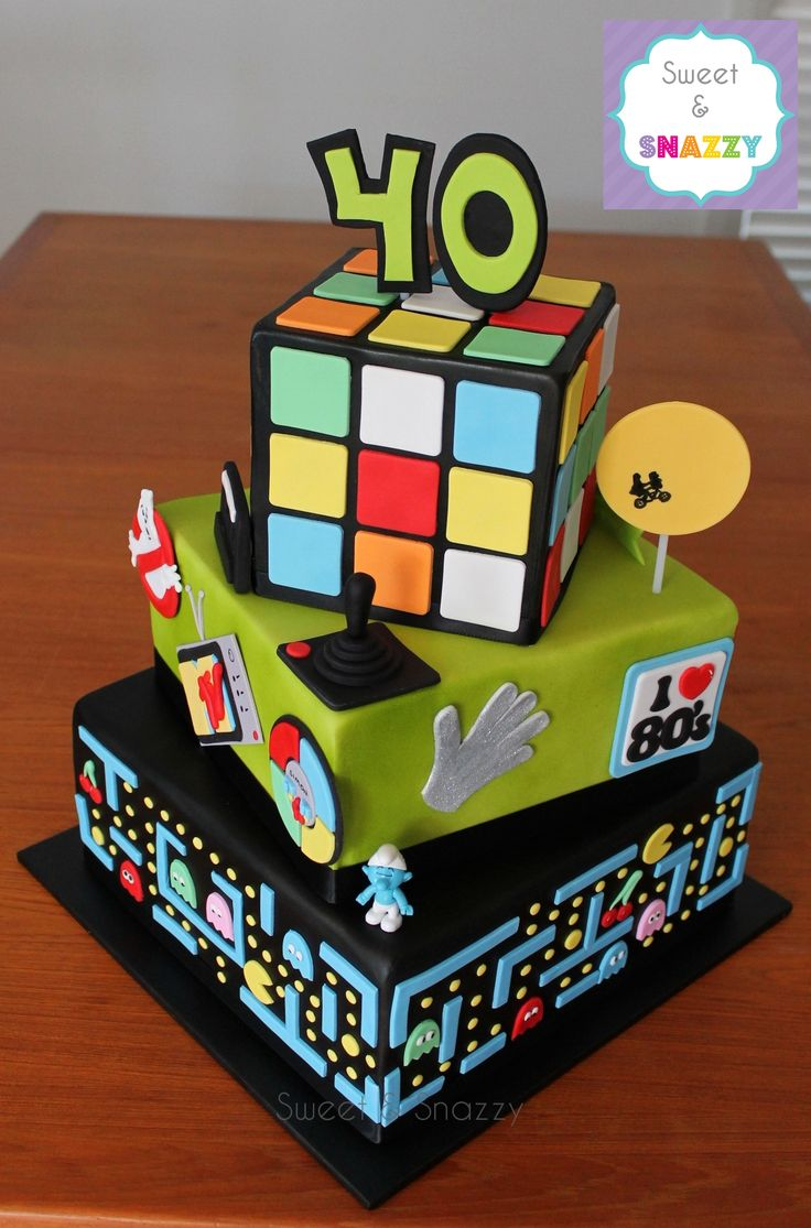 Pin By Sweet Amp Snazzy On Cakes 40th Birthday Cakes 40th
