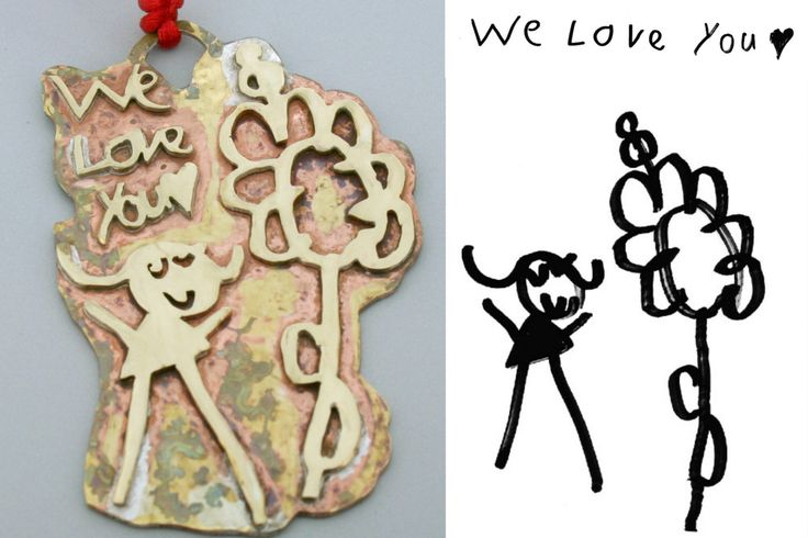 Custom Child Artwork Christmas Gift - Ornament from Kid Drawings - Handmade Brass Ornament - Christmas Gift for Grandma by courtneymariejewelry on Etsy https://www.etsy.com/listing/461950706/custom-child-artwork-christmas-gift