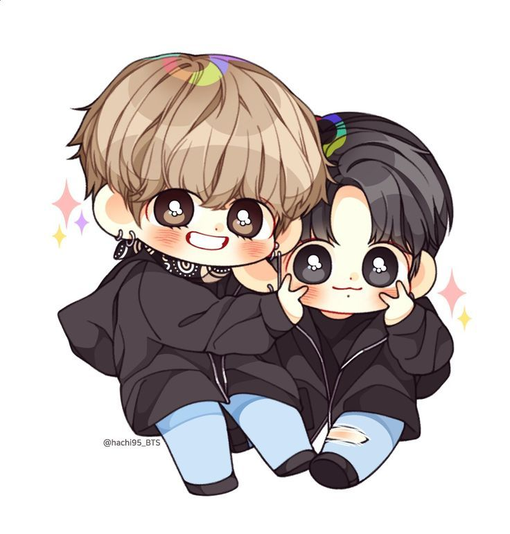 Pin By Dekuodoroki On Bts Fams Vkook Fanart Chibi Bts Chibi