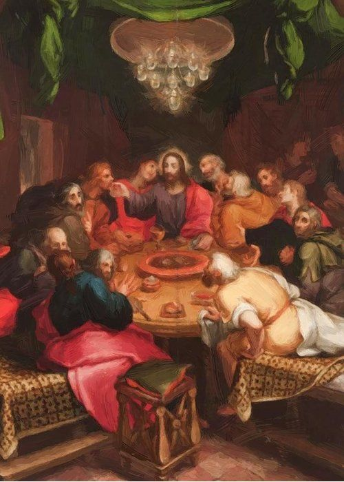 The Last Supper Greeting Card For Sale By Van Veen Otto Pixbreak