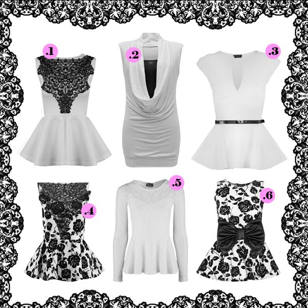 LETS PLAY Comment the one you like more!! #white #ibiza #peplum #top #print #flower #lace #fashion #ebay #shop