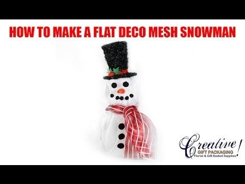▶ How to Make our 3 Piece Snowman with Poly Deco Mesh! - YouTube