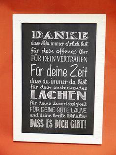 """Kunstdruck mit Spruch """"Danke"""" von Foto-Design & Digital-Art auf DaWanda.com"""