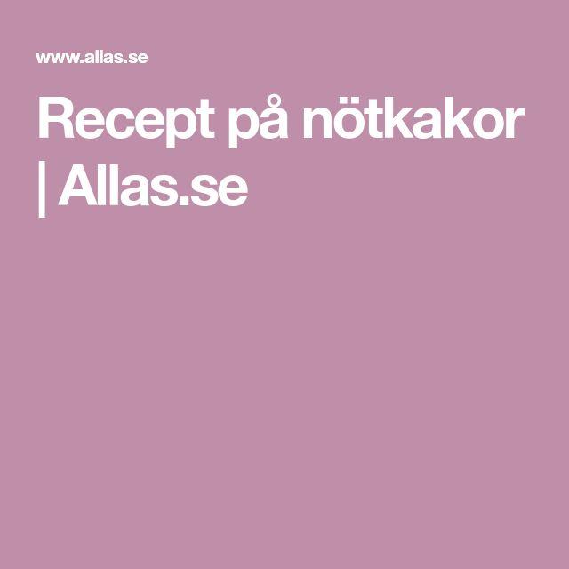 Recept på nötkakor | Allas.se