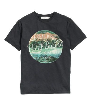Graphic T-shirt in cotton jersey with a printed design at front.   H&M For Men
