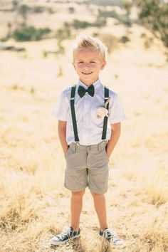 Any Page Boy or Ring Bearer would be at home in shorts and sand shoes!
