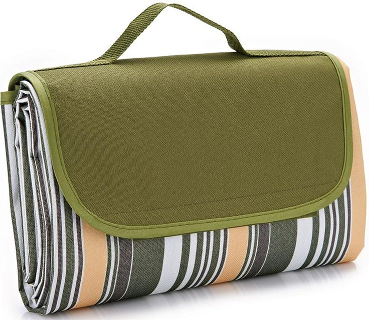 """80x60""""Family Picnic Blanket with Tote, Extra Large Foldable and Waterproof Camping Mat for Outdoor Beach Hiking Grass Travel Naturalrays. EXTRA LARGE PICNIC BLANKET FOR THE WHOLE FAMILY: This oversized blanket measures a huge 80*60"""", and can comfortably fit up to six adults. Whether used as a beach blanket, beach mat, camping blanket, RV blanket, emergency blanket or throw blanket, it is the perfect choice for the park, the beach, sporting events, soccer games, tailgates, concerts, hiking..."""